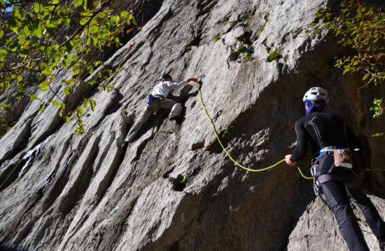 Rock climbing - Paklenica, Croatia - Lead climbing